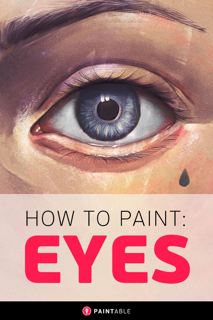 Digital art painting tutorial // The 4-Step Method to Painting Perfect Eyes…