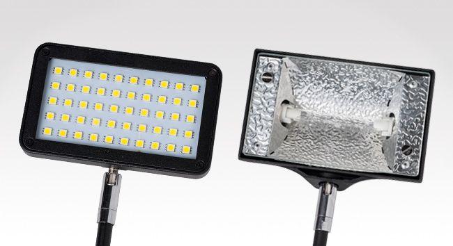 Display lampen Led / 150 watt halogeen wit / zilver / zwart