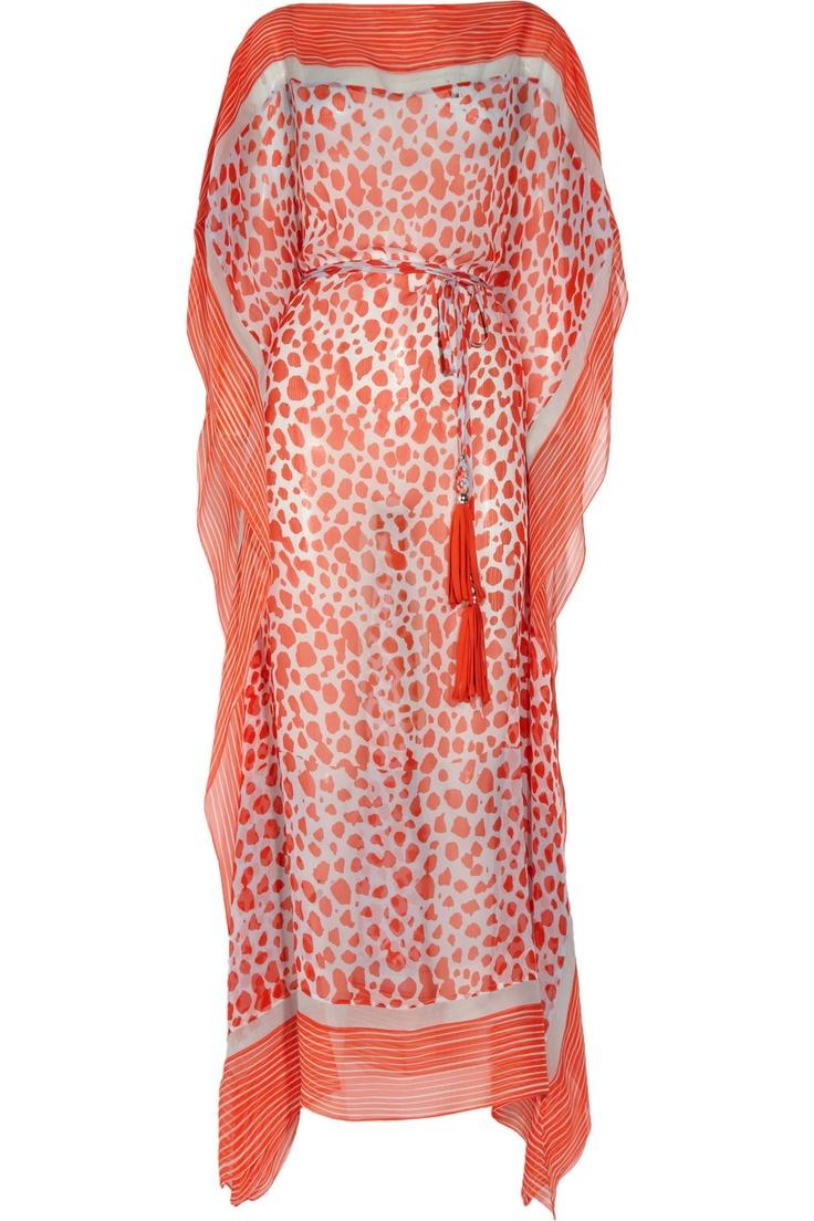 Diane von Furstenberg  Aaliyah printed silk-georgette kaftan