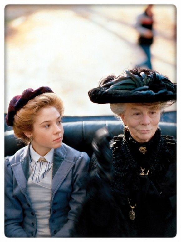Anne Of Green Gables: The Sequel Film Still. Anne in a carriage.