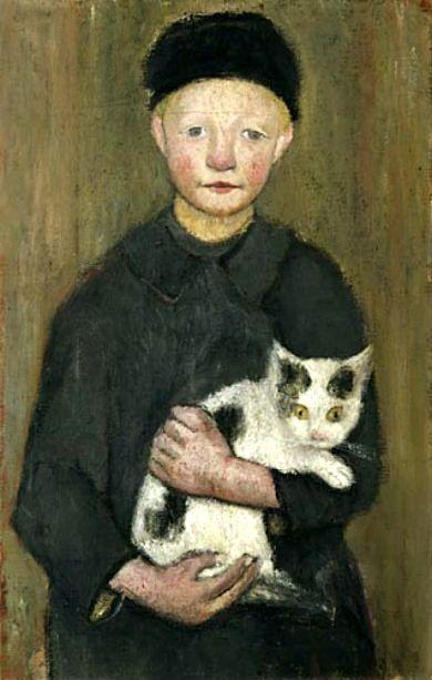bofransson:    Knabe mit Katze (Boy with cat)-Paula Modersohn-Becker