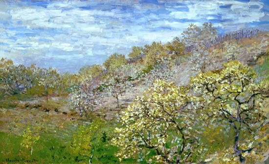 Claude Monet - Trees in flower