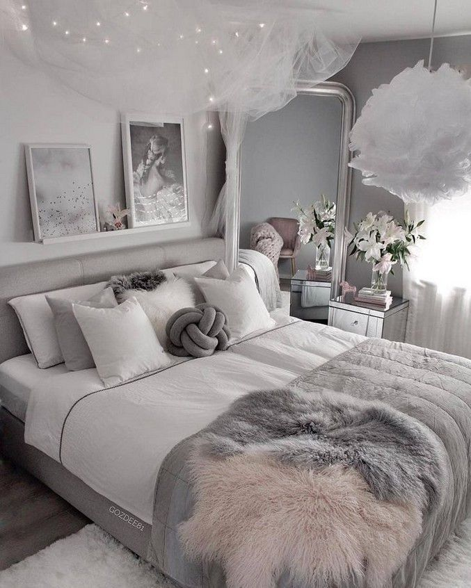 50 Budget Grey And White Bedroom Ideas 2020 4 In 2020 Stylish Bedroom Interior Design Bedroom Small Luxurious Bedrooms