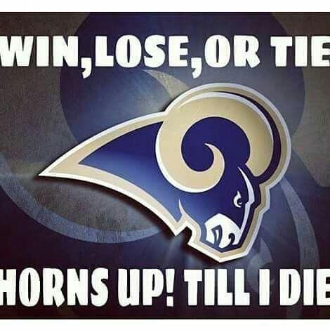 LA Rams!! Horns Up!!                                                                                                                                                                                 More