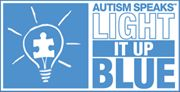 APRIL 2   is light it up blue. let's make our porch lights blue this night and wear blue this. AUTISM AWARENESS!!