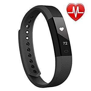 Lintelek Smart Fitness Uhr IP67 Wasserdicht Bluetooth 4.0 Activity Tracker Gesundheits-Schlaf-Monitor Pedometer Herzfrequenz-Monitor mit Call / SMS Erinnerung für Android und IOS
