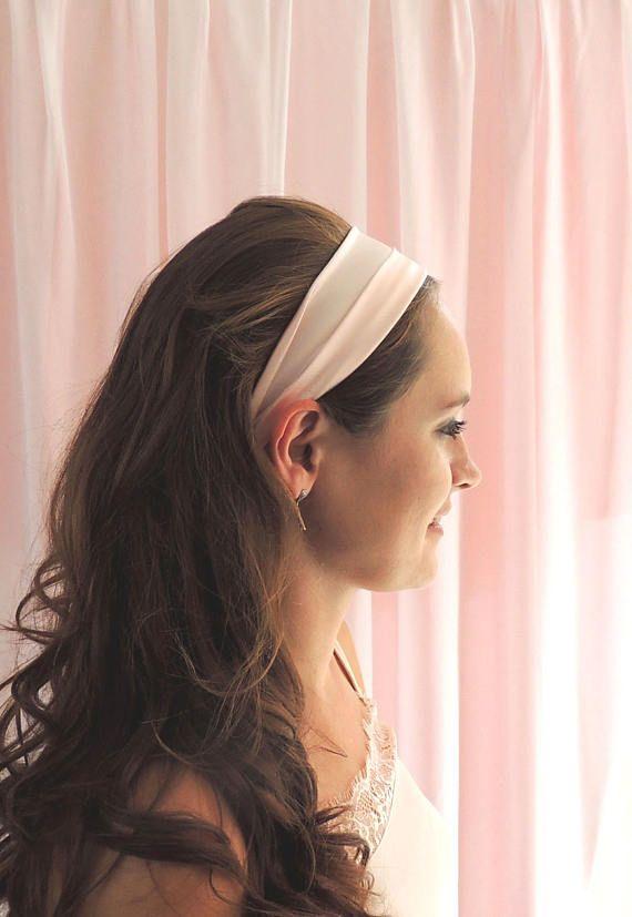 Glamour Girlz Ladies Girls Matte Chiffon Headband Alice band Pointy Bow Latte