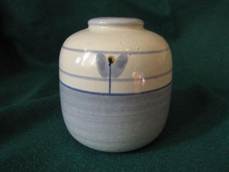 Vintage Studio ART Pottery Blue Vase Maria Philippi Soholm Denmark Studiokeramik