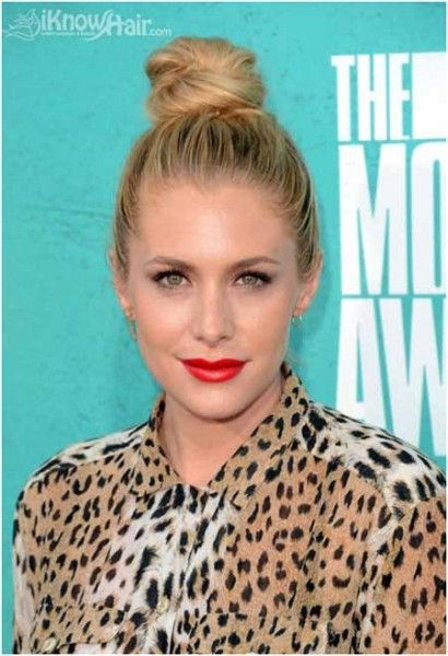 Top Knot Bun Hairstyles for Long Hair