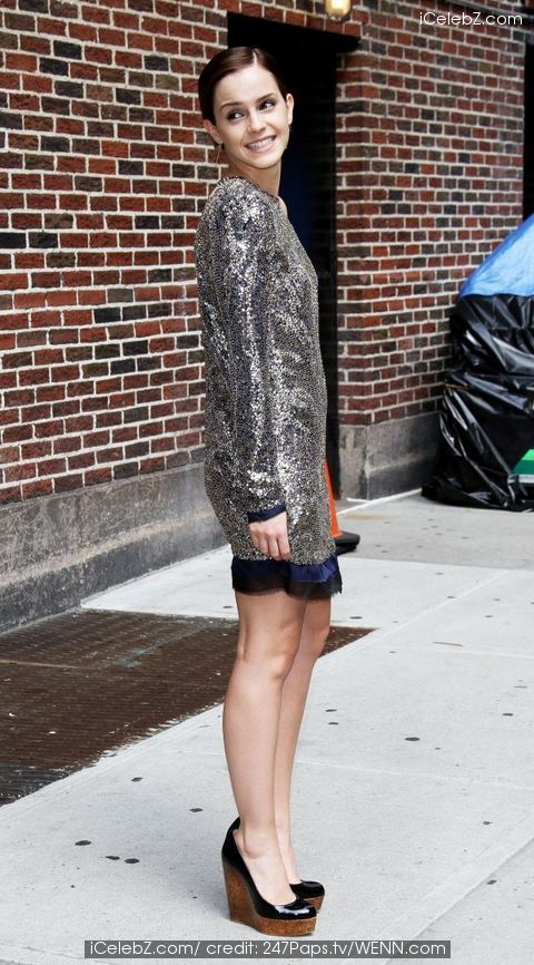 'The Late Show with David Letterman' at the Ed Sullivan Theater - Arrivals on - 11.07.11 Emma Watson photo