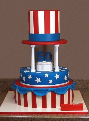 tutorial on how to make this talking and moving  cake!4Th Cake, Happy Birthday, Smarties Article, Red White Blue, Patriots Cake, 4Th Of July, Moving Cake, Cake Decorating, Birthday Cakes
