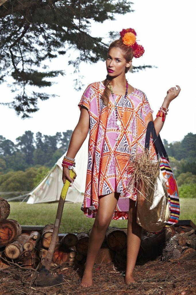 SanCerre Spring Summer 13/14 - womens fashion. Our favourite print in the range. (Bright pink & orange mombasa) <3<3<3