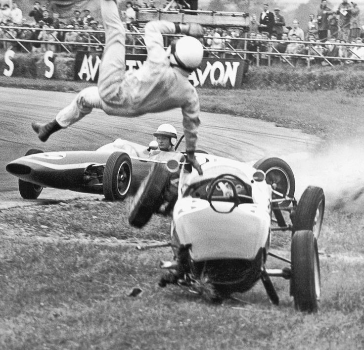 Vintage Formula 1 crash