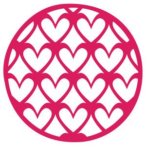 Silhouette Design Store: decorative heart circle