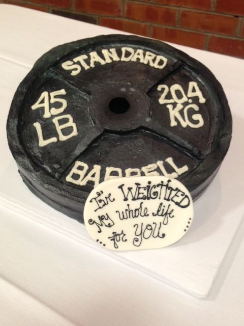 Weight cake for a weightlifter