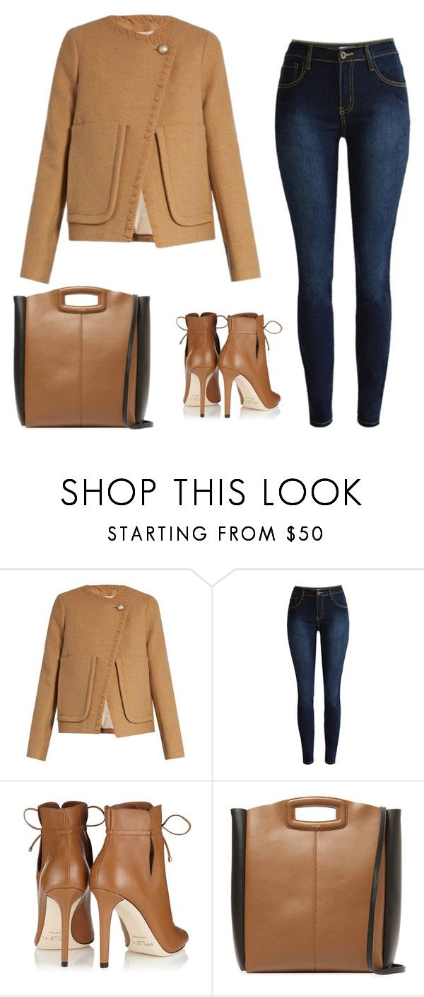 """""""Lady fashion inspiration"""" by monika1555 on Polyvore featuring See by Chloé, Jimmy Choo and Maje"""