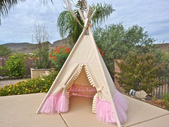 Poetic Princess Teepee (Custom Made to Order) -- Fort Tent Indoor Outdoor Play Photo Prop Tee Pee Playhouse & 83 best Teepee Tent images on Pinterest | Teepee tent Indoor ...