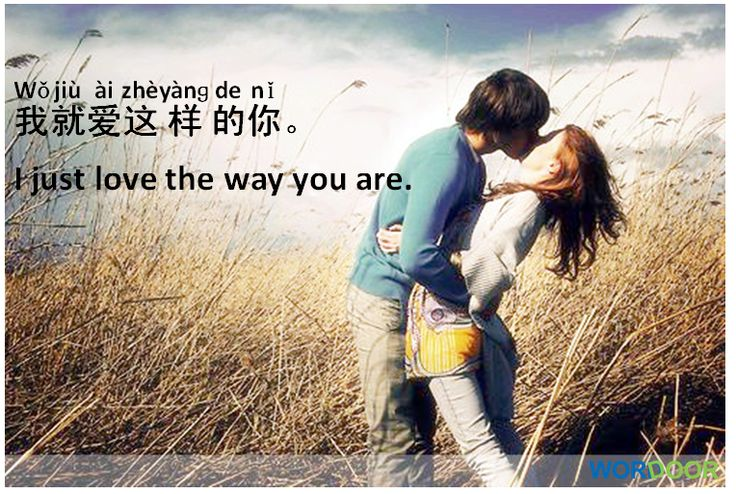 Chinese Sentences -I love you the way you are./ 我就爱这样的你。Do you feel this way about anyone?