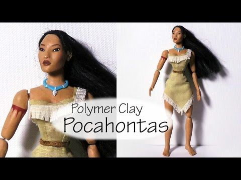 Pocahontas Inspired Doll (Poseable) - Polymer Clay Tutorial - YouTube