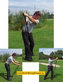 The Golf Swing Trainer, Is for golfers who want to improve their game, both mentally and physically. It also improves strength, flexibility, balance and rotation. And train the specific golf movements and techniques. www.GolfSwingTrainer.eu