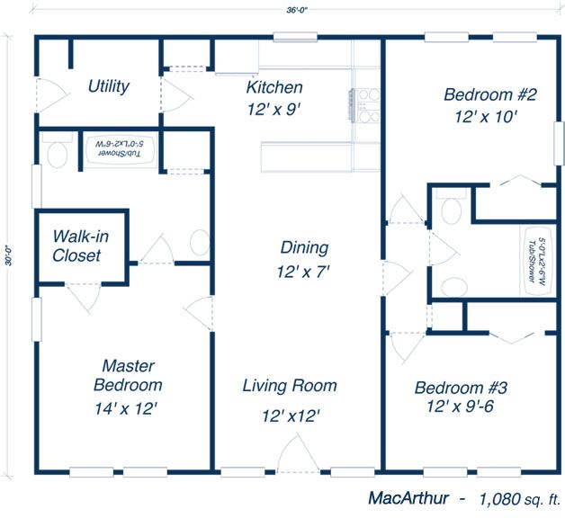 Metal building house plans our steel home floor plans for Small metal house plans