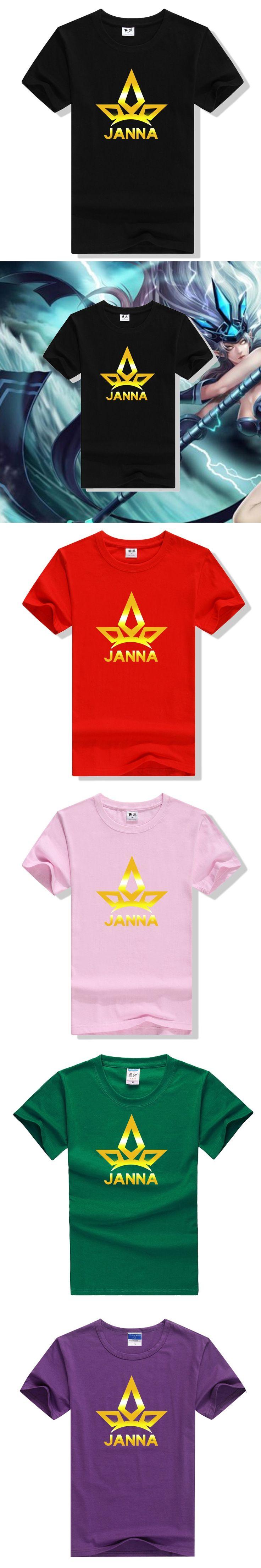 LOL heros concept new designed gold shining layer t shirt LOL Janna Ghana color t shirts ac544