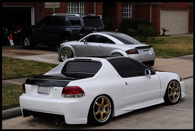 delsol | White Honda del Sol two tone | Flickr - Photo Sharing!