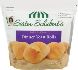 Sister Schubert's Dinner Yeast Rolls 10 & 20 Count - The BEST dinner rolls. Easy and delicious.