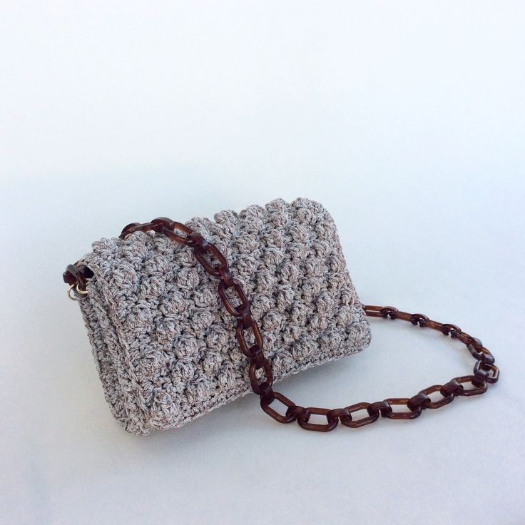 Crochet Bag Mixed Brown