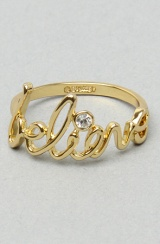 "Disney Couture Jewelry The ""Believe"" Ring in Gold"