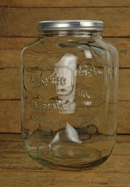 Hmmmm... for a little terrarium of baby ferns and succulents?  Large Mason Jar 2 Gallon