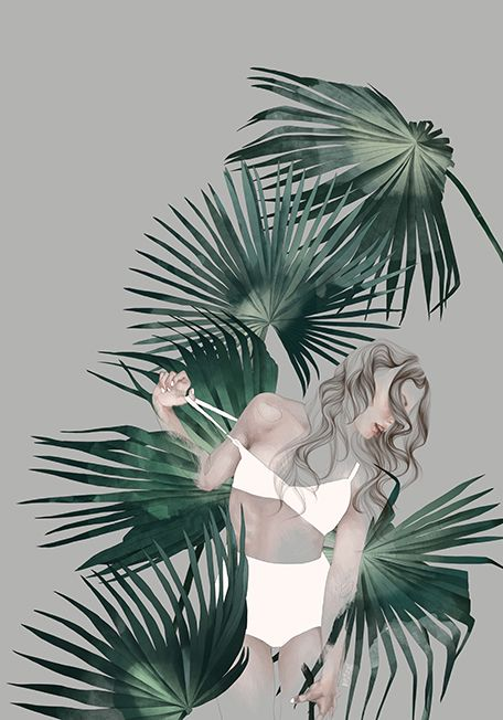 Foliage theme Part 2_fashion & botanic illustration