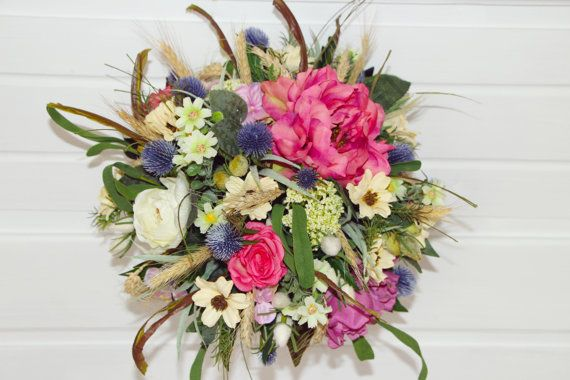 Wedding bouquet from grandmother's garden by FlorangeDeXeni