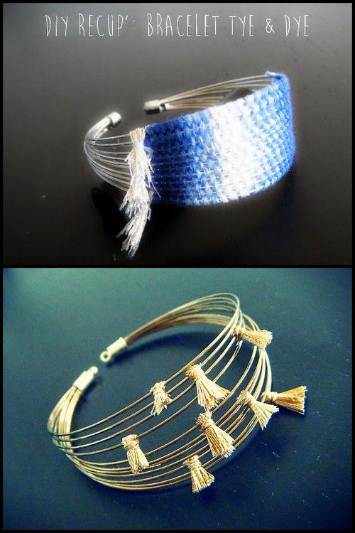 DIY 2 Memory Wire Bracelet Tutorials from Completely DIY by...| True Blue Me & You: DIYs for Creative People