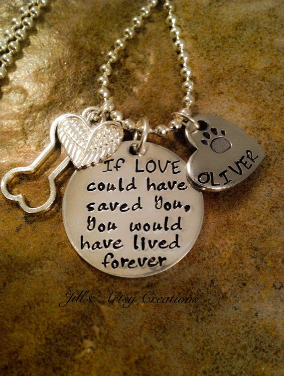 Pet Loss Necklace Dog Cat Loss Necklace If by JillsArtsyCreations
