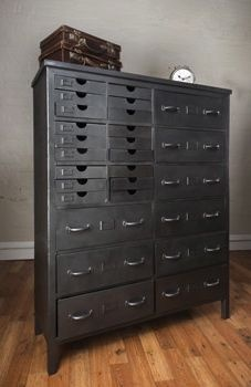 This storage cabinet is based on a design from the late 1800's, and with so many useful compartments it's a fantastic addition to a bedroom, living room or office space.   $1995.00