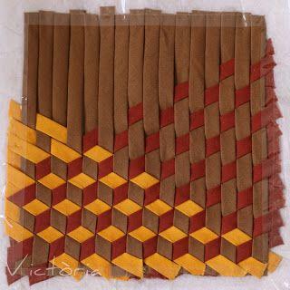 Love this weaving pattern. Would look great in a tote bag. Moments d'oci: Calaix d'impremta *2 i més / Cajón de imprenta *2 y másf
