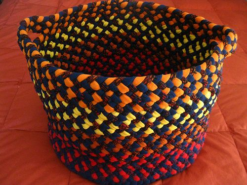 Colors of Fall Braided Utility Basket