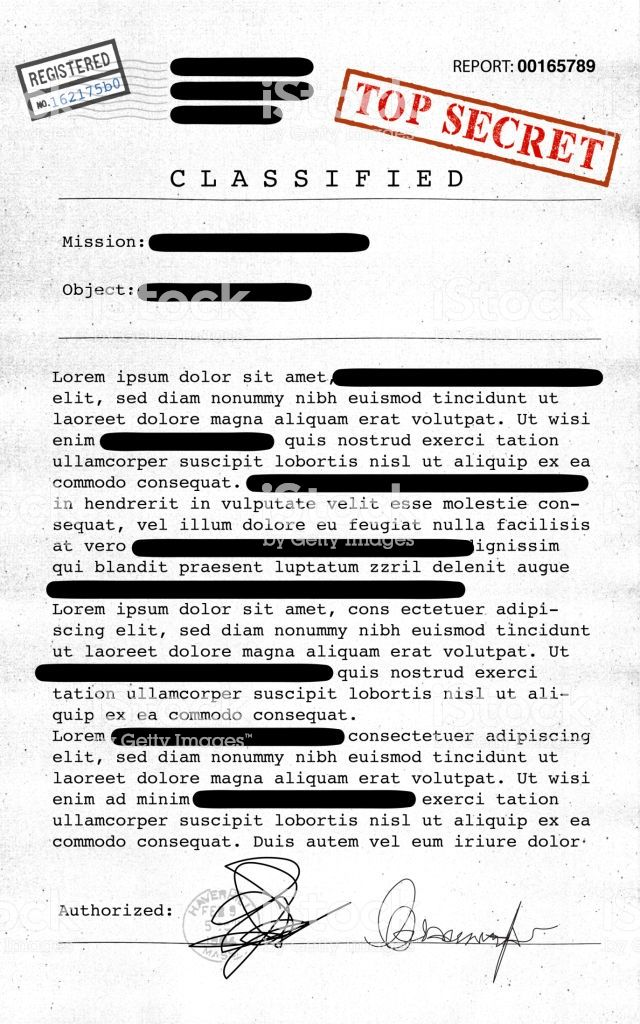 Top Secret Document Declassified Confidential Information Secret