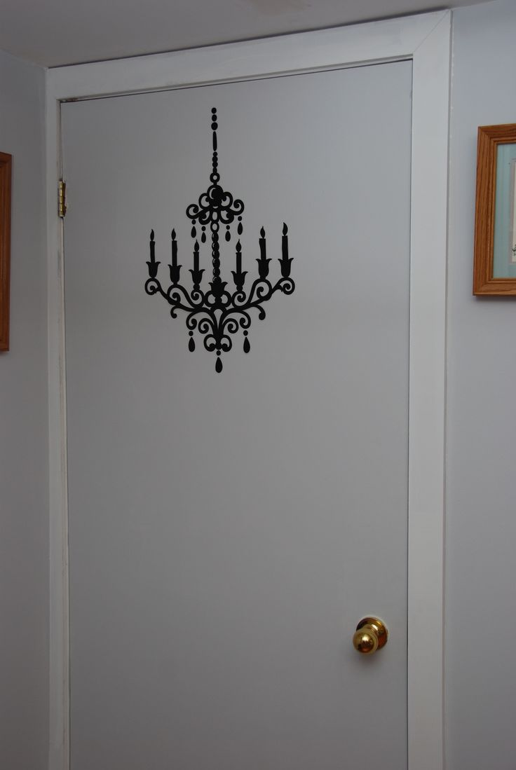 Room to the cold room - just something to 'up' a very very boring door.  This stencil cost $0.25 in a sticker warehouse