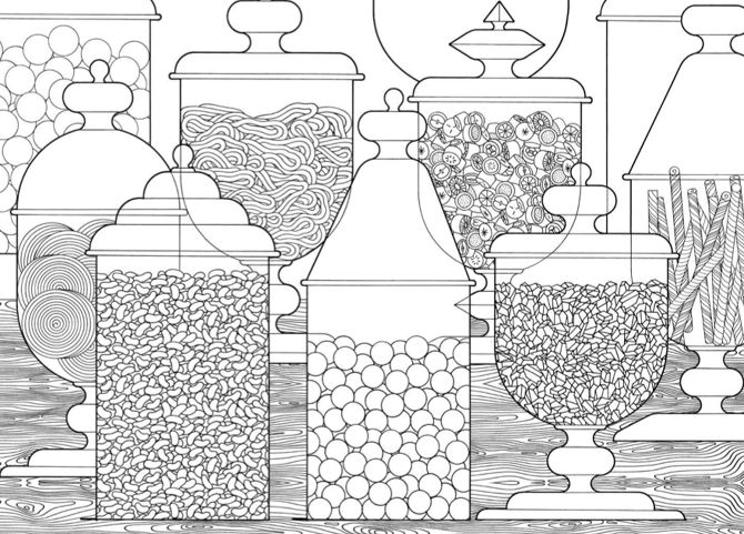 kitchen jars 100 cupcakes to color