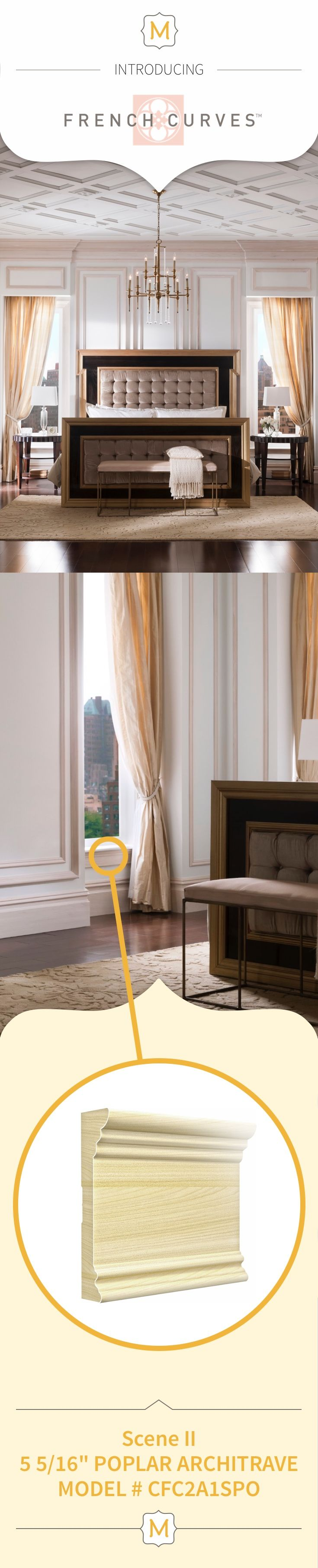 Create an elegant window sill with Metrie's French Curves Collection moulding elements.