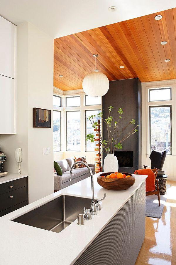wood ceiling...