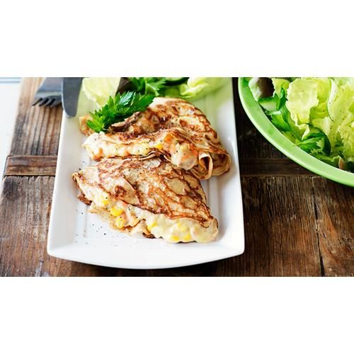 Tuna mornay crepes recipe.Wrap your tuna mornay in crepes for a different way to serve this well known and hearty kid friendly dish. #Kidfriendly #Tuna #Easy #ModernAustralian #Seafood #Main