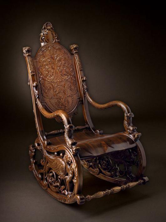 Кресло качалка 18 в. Барокко image 1