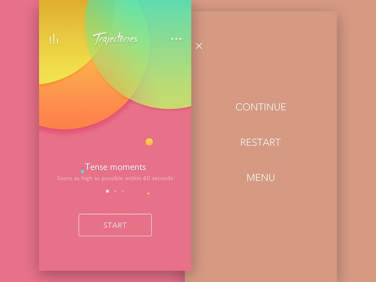 UI for a game(Trajectories),App store coming soon