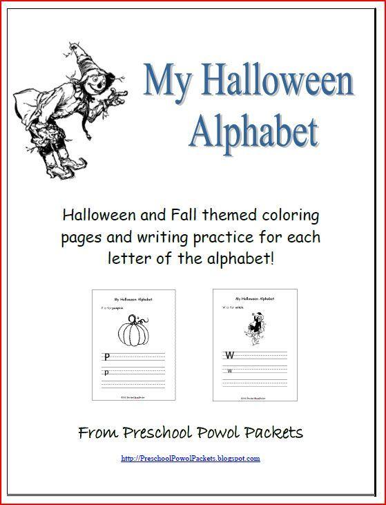 Halloween Alphabet Letter R Cat Witch Ryta: Halloween Alphabet Printables!
