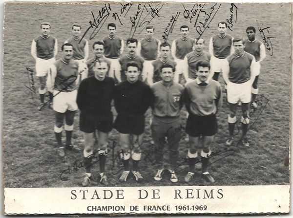Stade de Reims of France team line up in 1961-62.