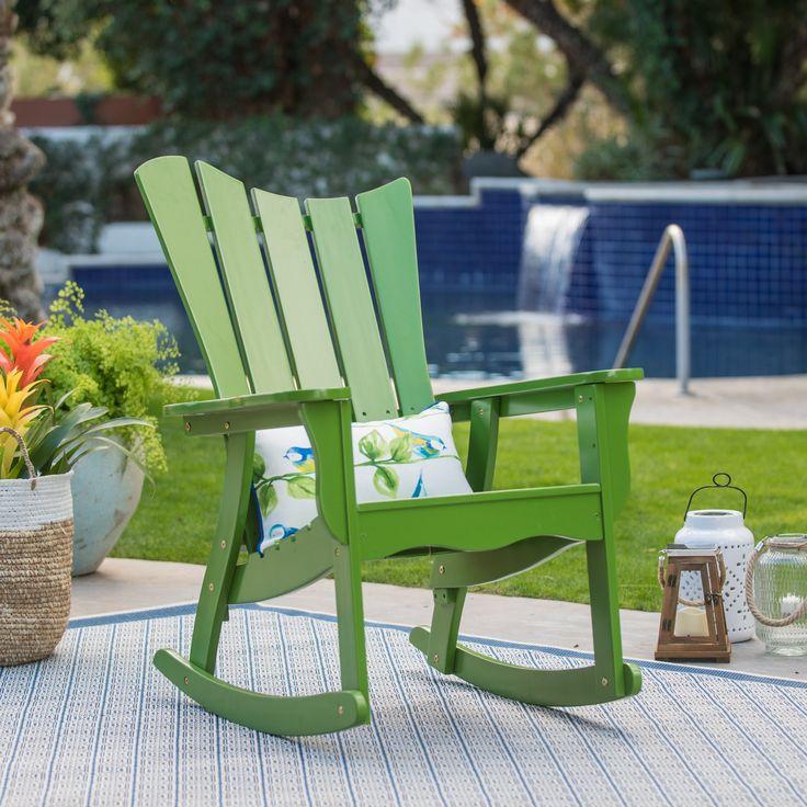 Outdoor Belham Living Ocean Wave Adirondack Rocking Chair - Green - VFS-GB43HD GREEN