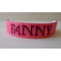 Bracelet prénom tissé écriture 3
